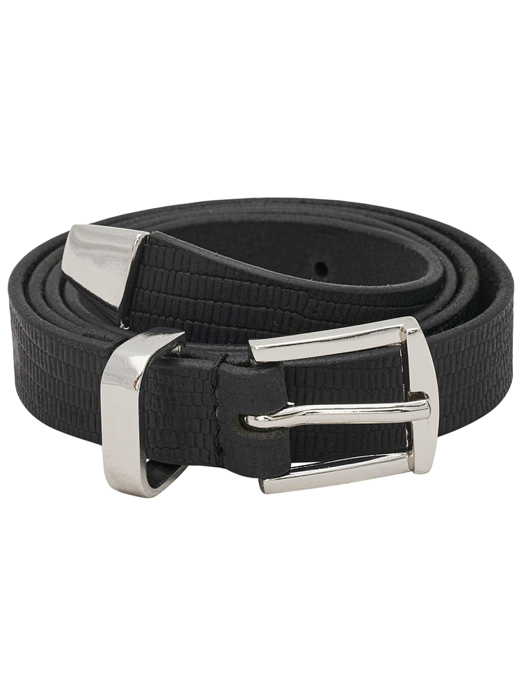 onlLIZZARD EMBOSSED LEATHER BELT