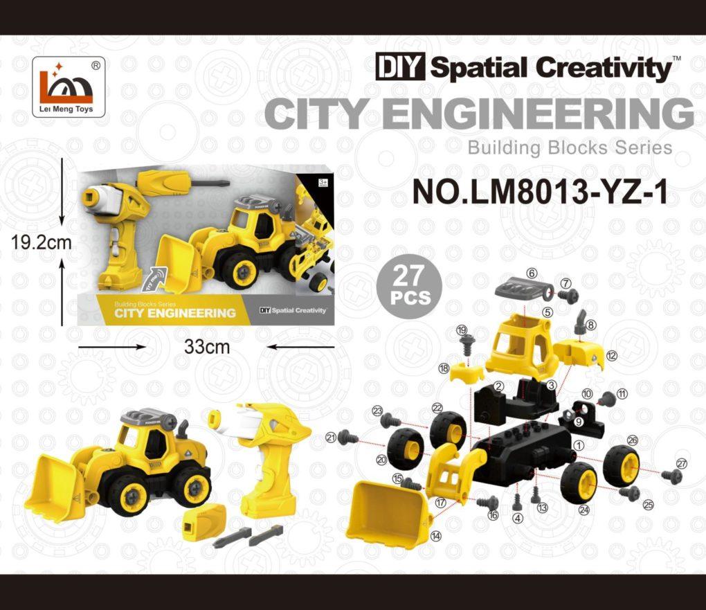 CITY ENGINEERING – DIY TRAKTOR M/SKRUMASKIN OG R/C (24CM)