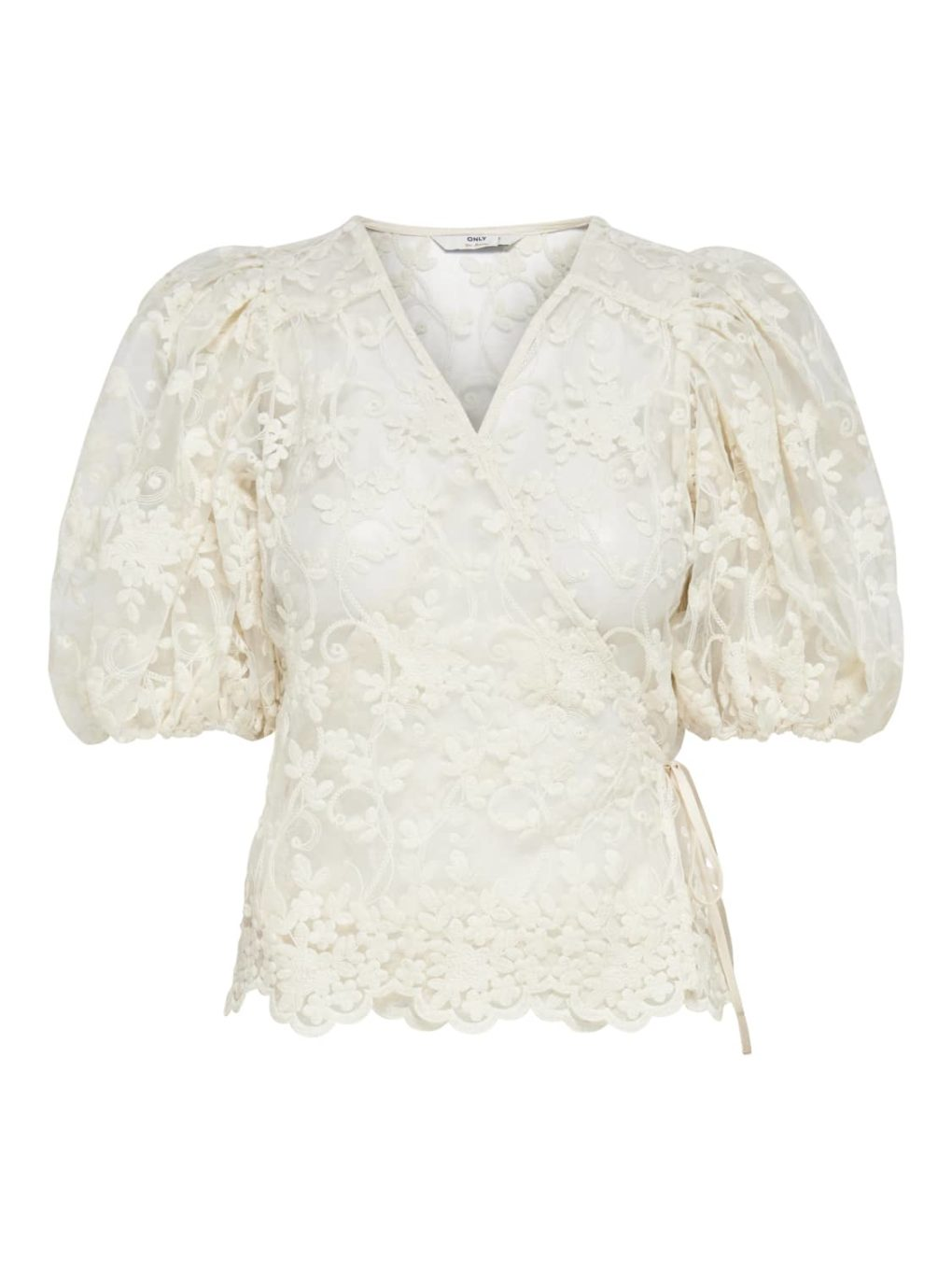 ONLTEMPLE WRAP BLUSE MED PUFF